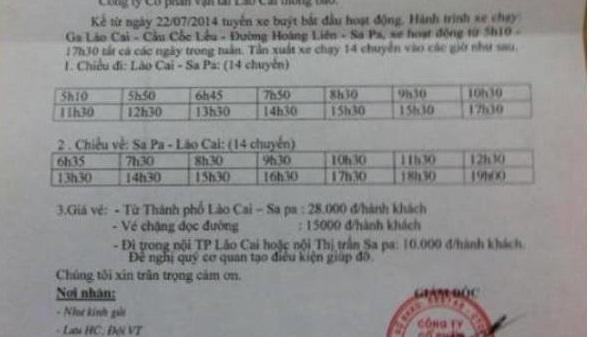 Horaires bus gare Lao Cai - Sapa