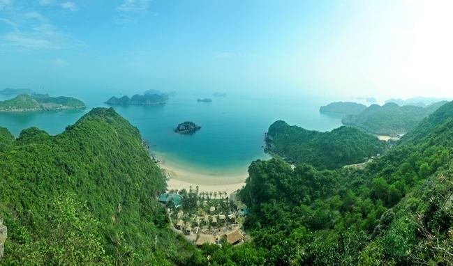 Panorama sur la baie de Lan Ha - ile de Cat Ba