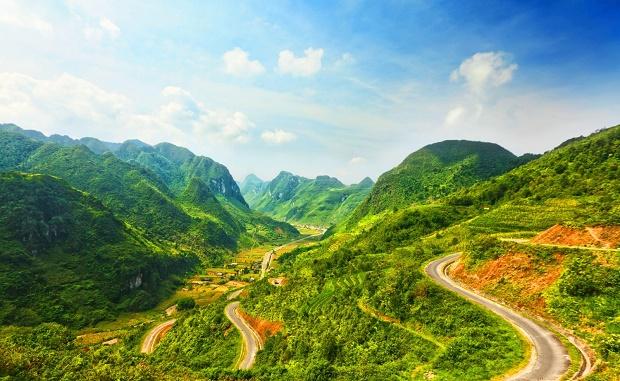 Les montagnes à Ha Giang