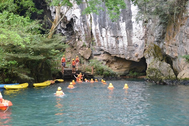 Le parc national de Phong Nha Ke Bang - que faire - Song Chay Hang Toi-natation