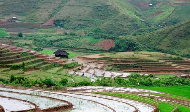climat vietnam-paysage de Mu Cang Chai au début de Mai