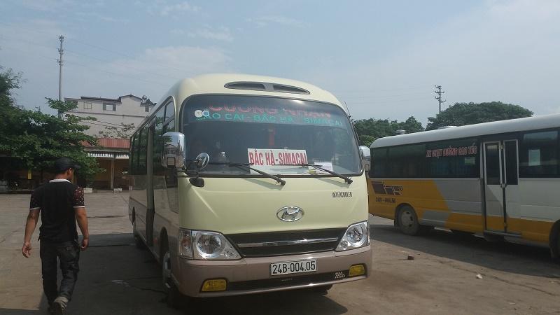 bus Lao Cai Bac Ha depart à 14h45