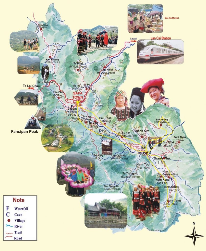 carte de trekking Sapa