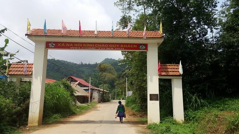 entree du village de Na Hoi à Bac Ha