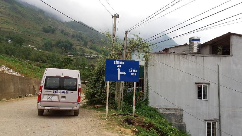 paneau sur la route Sapa