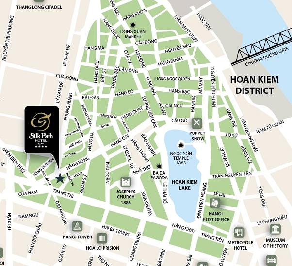 Que faire à Hanoi-vieux-quartier-Hanoi-carte