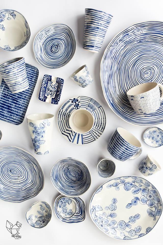 bols et assiettes en ceramique