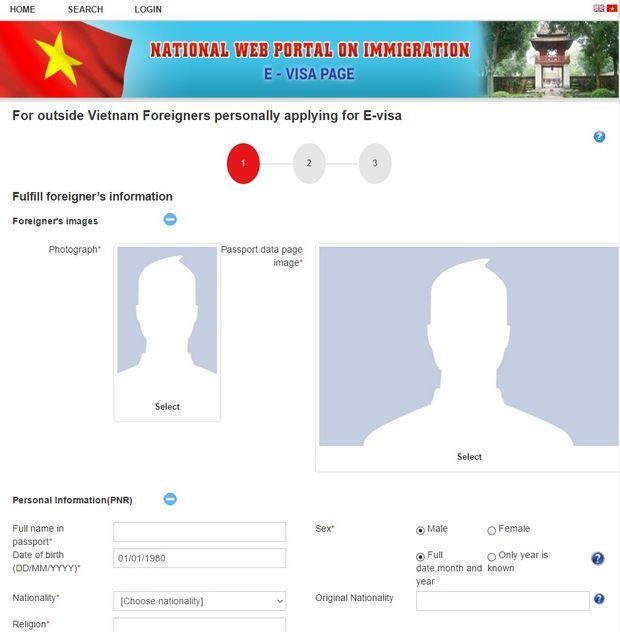 6 étapes pour obtenir l'e-visa Vietnam 2017 sur le site officiel du Département de l'Immigration-etape4