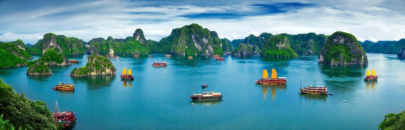 baie d'halong - meilleure période pour visiter - paysage panoramique