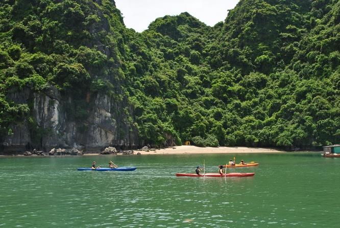 la baie de Lan Ha - balade en kayak