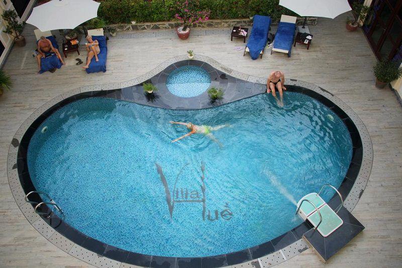 hotel hue vietnam-Top 6 des hôtels avec piscine à prix raisonnable sur Hué Vietnam-villa-Hue-piscine
