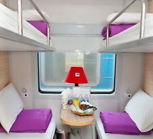 Compartiment du train Violette
