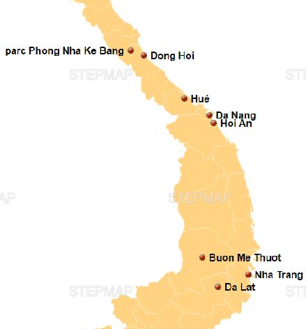 carte-du-centre-du-Vietnam