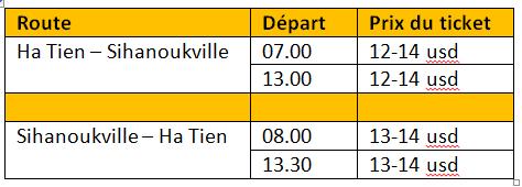 horaires-bus-Ha-Tien-Sihanoukville-vice-versa