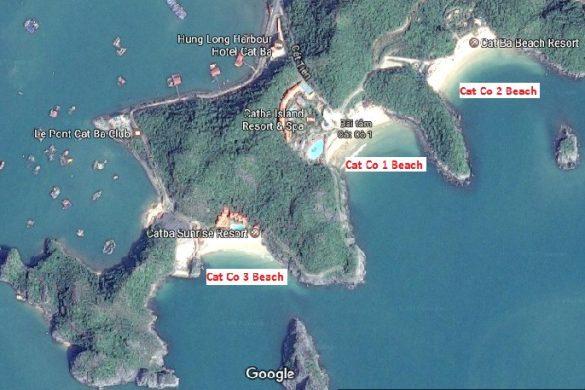 carte-les-plages-sur-ile-Cat-Ba-region-Halong