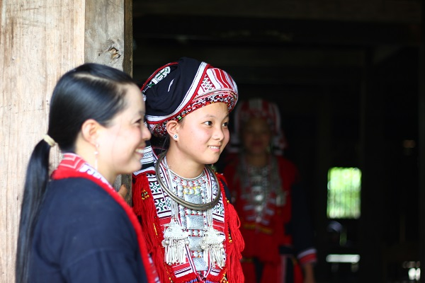 deux femmes Dao rouges à Hoang Su Phi