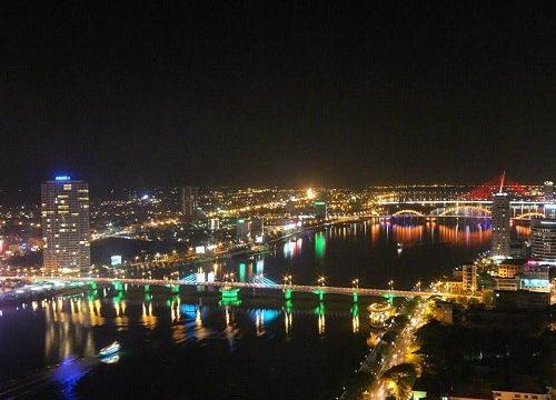 Da Nang Vietnam - vue depuis un skybar - vie nocturne