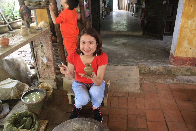 apprendre a faire la poterie au village Thanh Ha à Hoi An